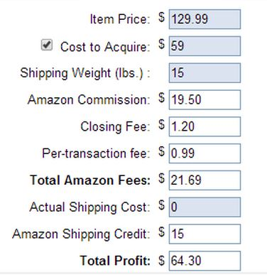 Amazon Calculation