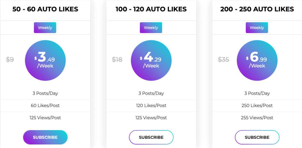 AutoLikesIG Prices