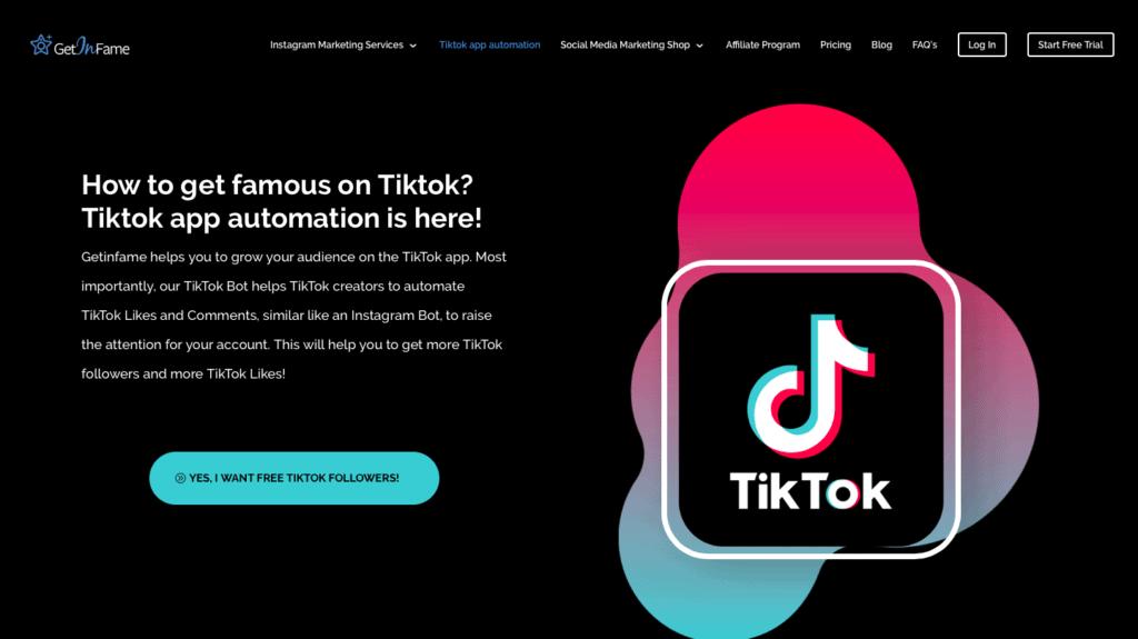 GetinFame TikTok Bot