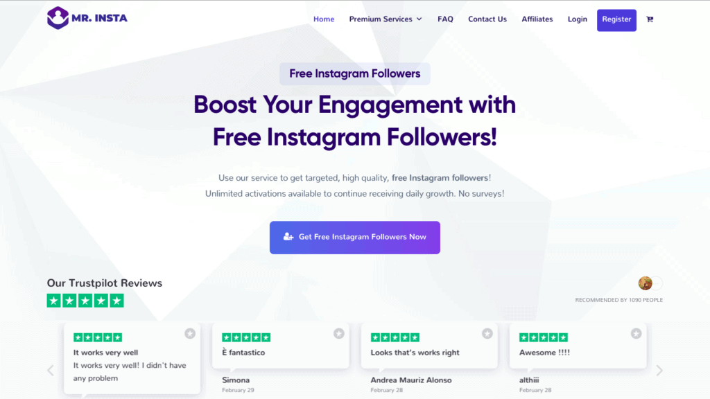 Mr Insta Best Instagram Growth Service