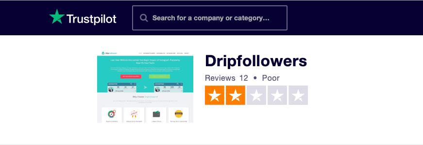 DripFollowers Trustpilot