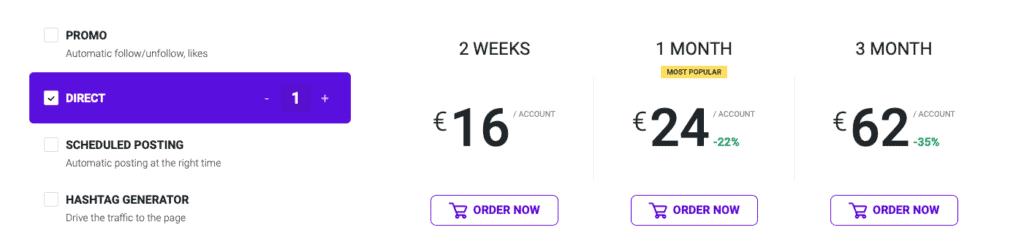 Ingramer Direct Pricing