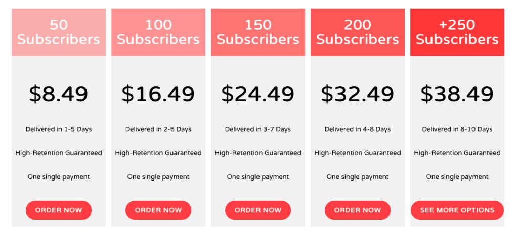 NemoViews Subscribers Pricing