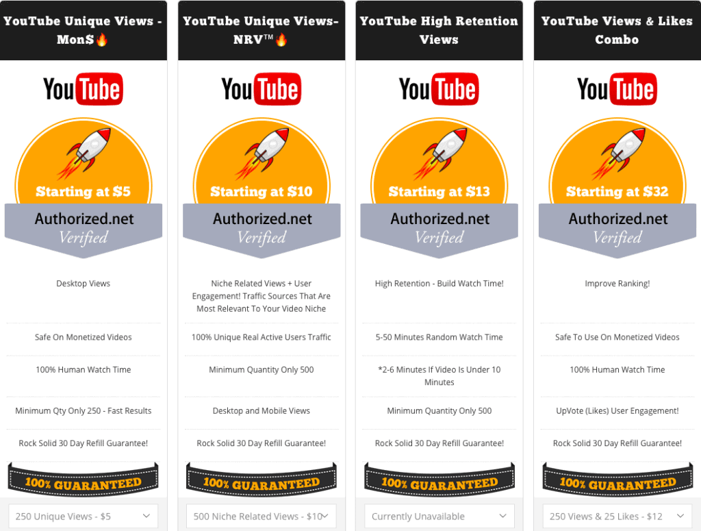 BoostStorm Pricing YouTube