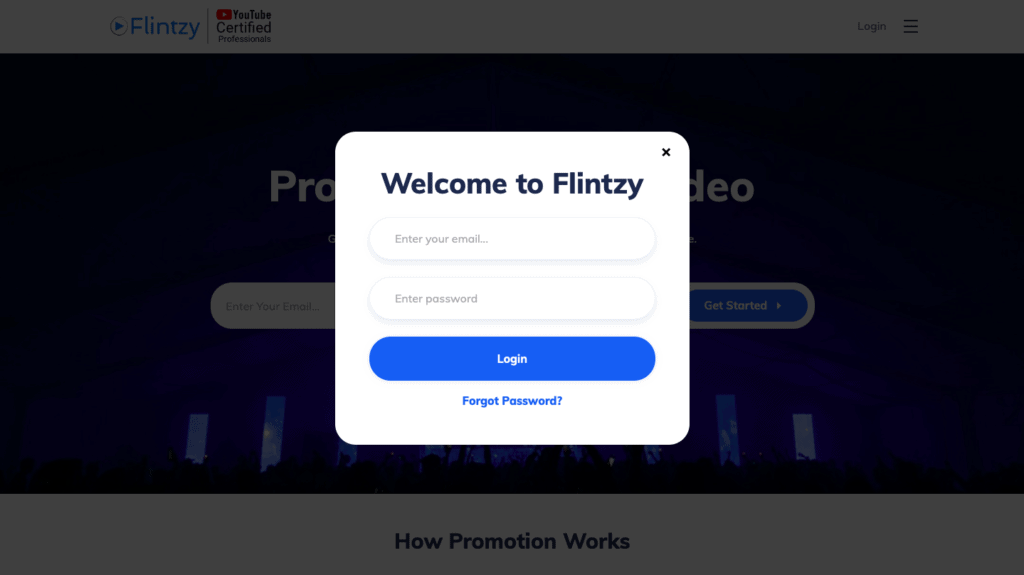 Flintzy Sign Up
