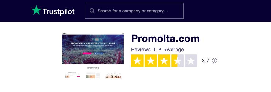 Promolta Trustpilot