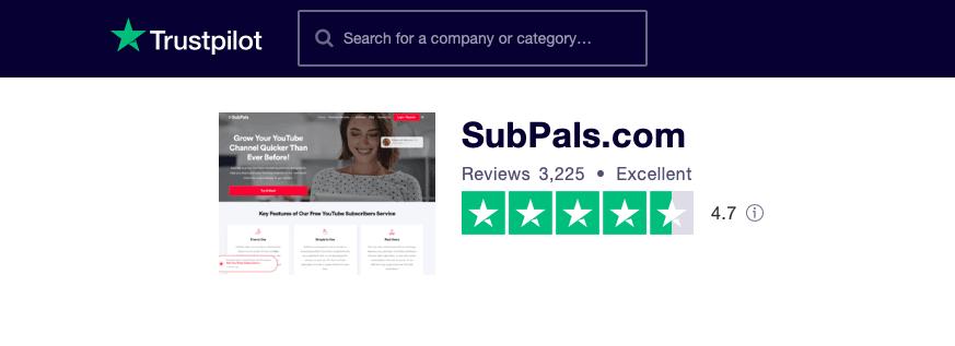 SubPals Trustpilot