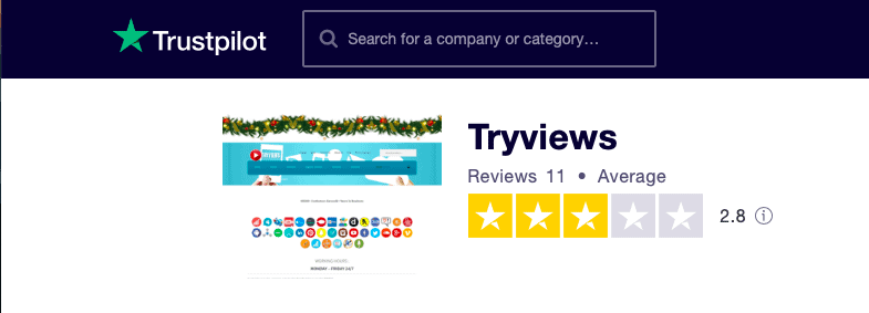 TryViews Trustpilot