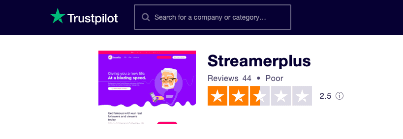 Streamerplus Trustpilot