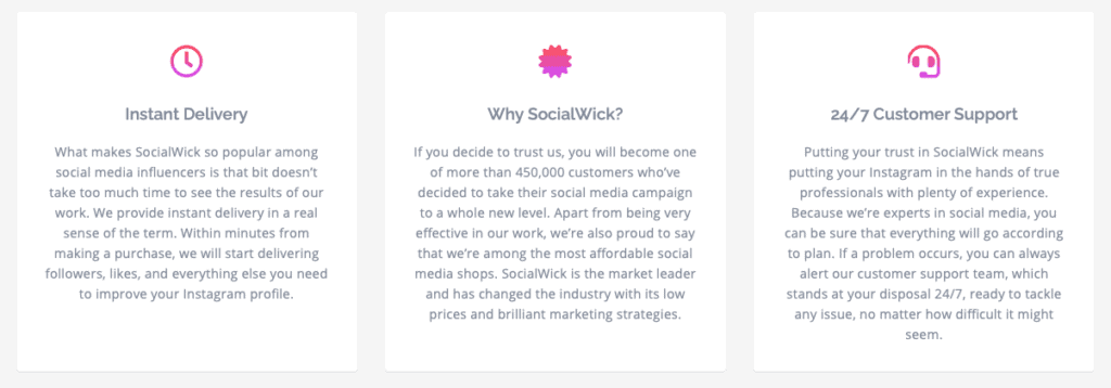 SocialWick Features