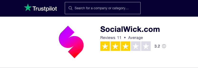 SocialWick Trustpilot