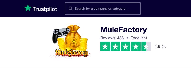 MuleFactory Trustpilot