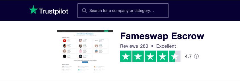 Fameswap Trustpilot