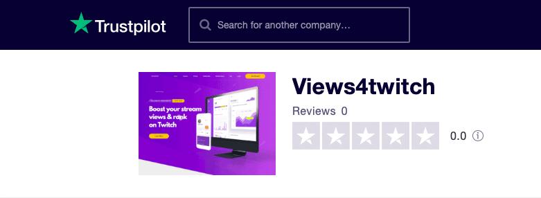 Views4Twitch Trustpilot