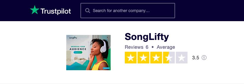 SongLifty Trustpilot