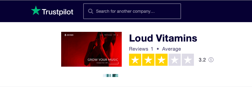 Loud Vitamins Trustpilot