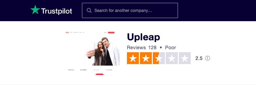 Upleap Trustpilot