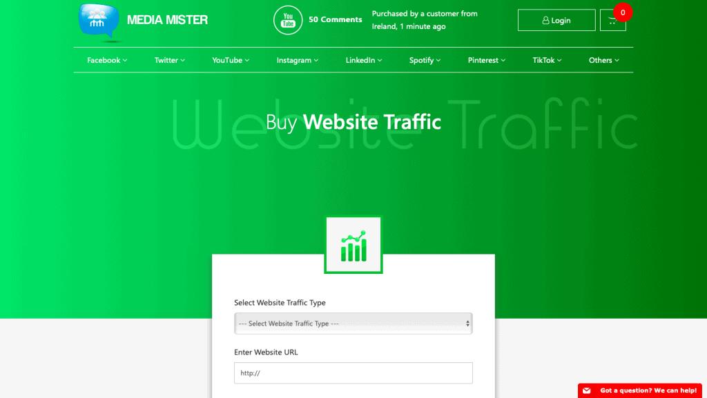 Media Mister Buy Organic Traffic