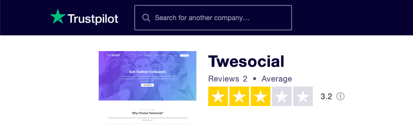 Twesocial Trustpilot