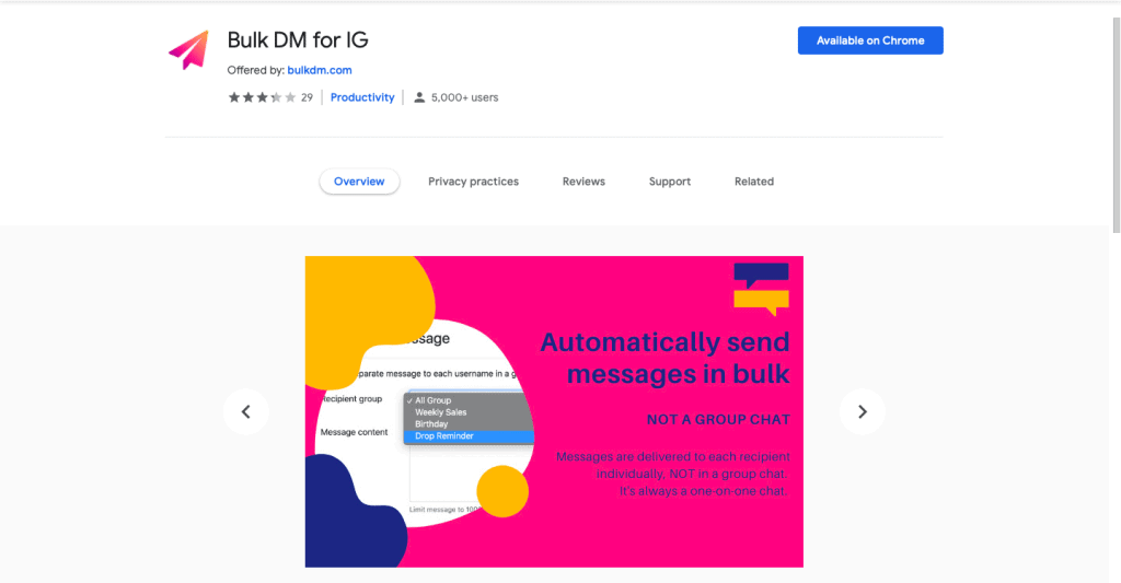 Bulk DM Chrome Extension Auto DM Tool
